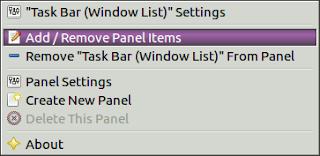 add/remove panel items in lubuntu