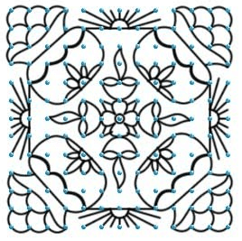 easy pongal kolam with dots