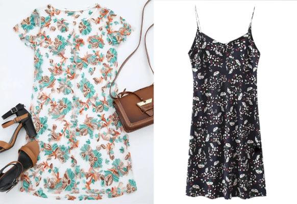 Vestido Floral Curto  Bordado Compre Online