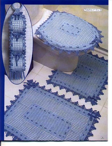 b753ddf0a25a1 سحر ألاشغال اليدوية  اطقم حمامات من الكروشية بالصور