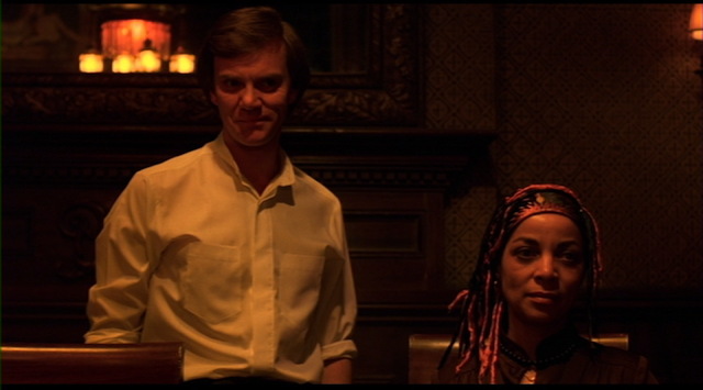 Paul Gallier (Malcolm McDowell) and Female (Ruby Dee) in CAT PEOPLE (1982).