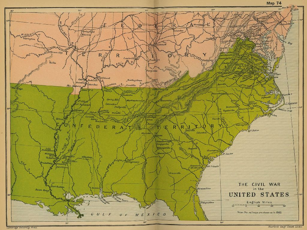 map of 1861 united states