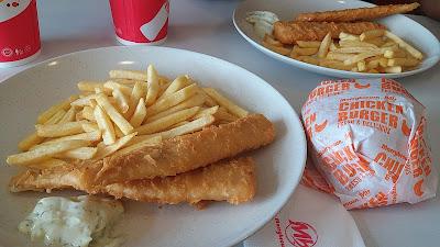 Lunch Fish n Chips Di Marry Brown, Selepas Cuci Kereta