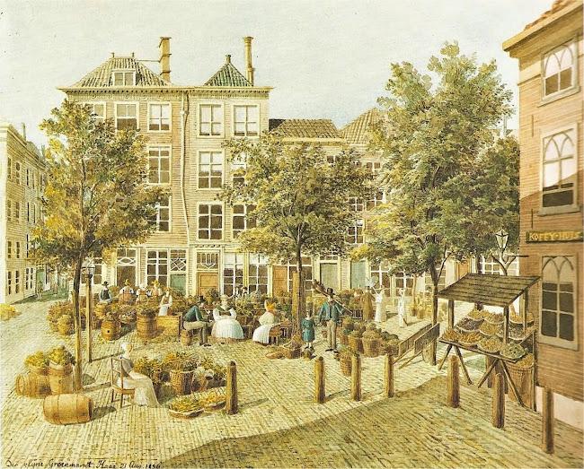 Felix Mendelssohn - Der klyne Groenmarkt (The Haque c.1836)