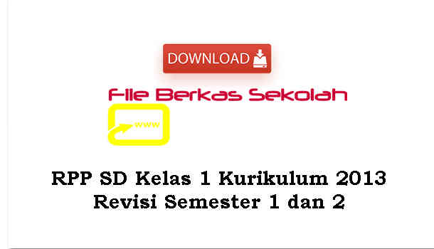 Download RPP SD Kelas 1 Kurikulum 2013 Revisi Semester 1 dan 2