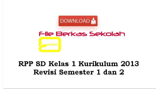 Download RPP SD Kelas 1 Kurikulum 2013 Revisi Semester 1 dan 2
