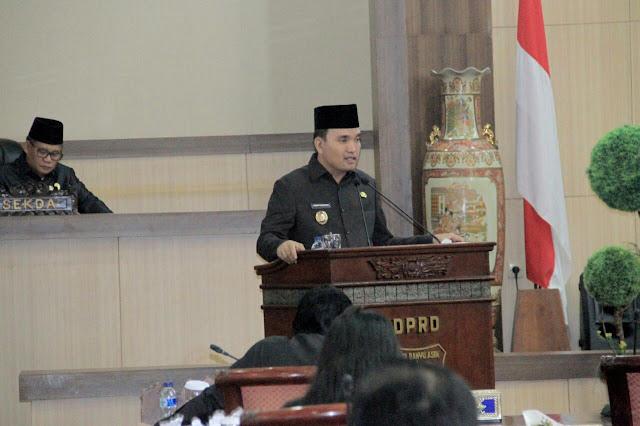 Plt Bupati Muba Jawab Pandangan Umum Fraksi DPRD