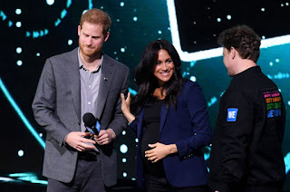 Meghan dragged onto the stage at WE day 2019