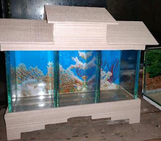 Akuarium Ikan Cupang 3 ruang