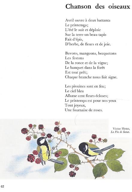 Manuels Anciens: CHANSON DES OISEAUX (Victor Hugo