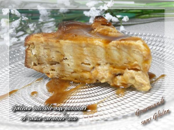 Gâteau invisible aux pommes, cannelle et miel