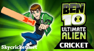 Play Ben 10 Ultimate Alien cricket game
