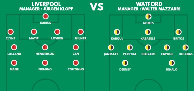 Prediksi Susunan Pemain Liverpool vs Watford