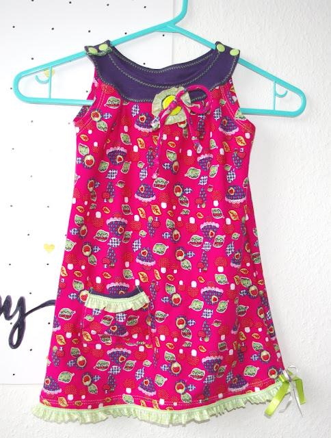 Topas Kleid für Mädchen Freebook nähen von Mialuna Nähblog