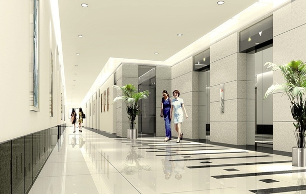 office lift lobby design