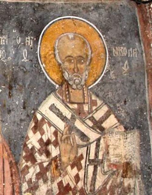 Свети Никола северниот ѕид од наосот, прва зона
