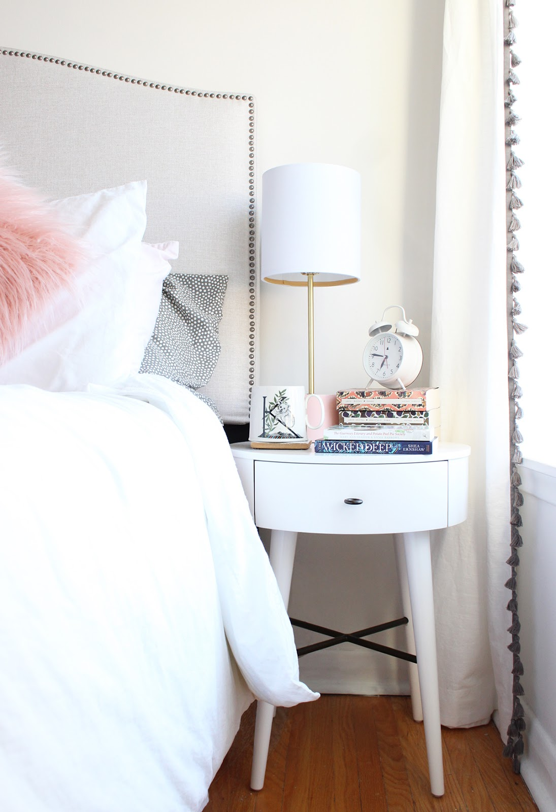 Wayfair, bedroom, new furniture, bedroom reveal, headboard, cupcakes and cashmere