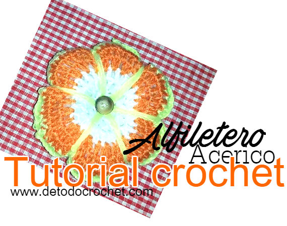 tutorial en video de alfiletero o acerico crochet