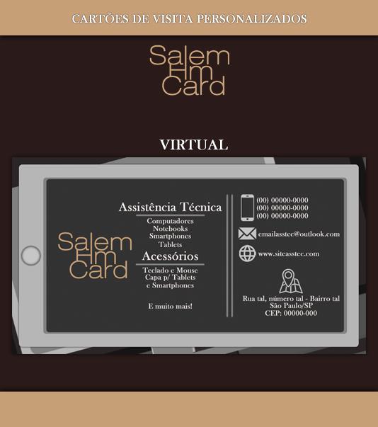 Cartão de Visita - Modelo 1 - Informática - Virtual