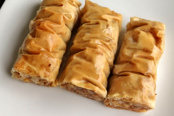 Bourma baklava, a rolled variation of baklava