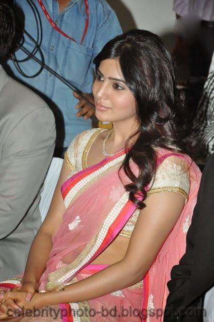 Samantha Ruth Prabhu Looking Sexy In Stylish Hot Saree Photo & Wallpaper With Biography