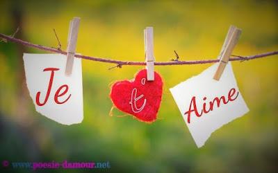 Texte d'amour je t'aime mon coeur