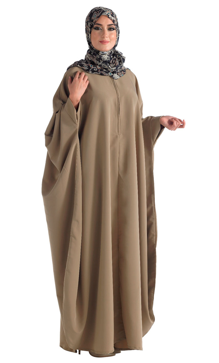 Model Baju Gamis Kelelawar Jilbab Unyu