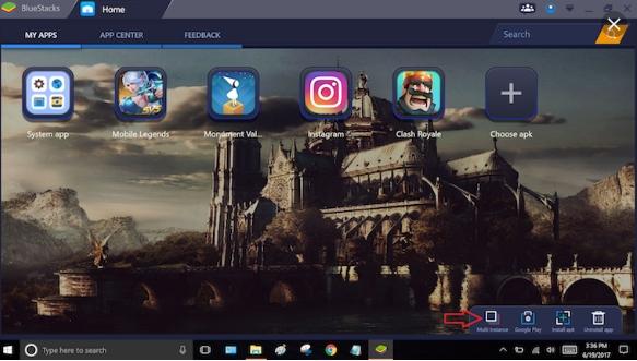 BlueStacks menu image