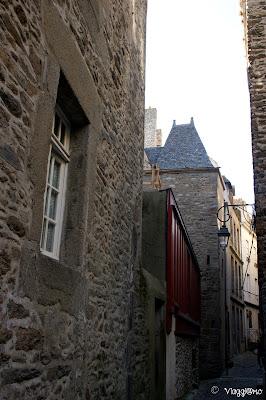 Edifici medievali nel centro intramuros di Saint Malo