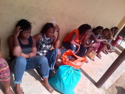 prostitutes arrested azazi house ikoyi lagos