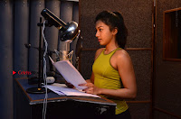 Actress Catherine Tresa Pos during Self Dubbing for Gautham Nanda Movie  0041.JPG
