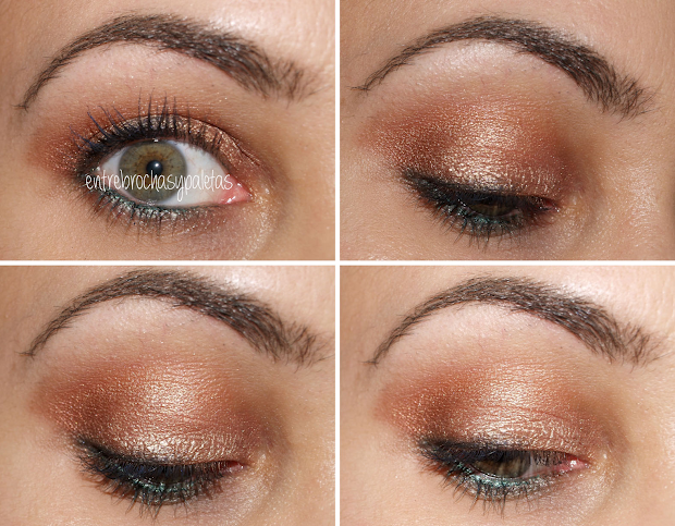 Maquillaje En Naranjas Contraste Verde - Entre Brochas