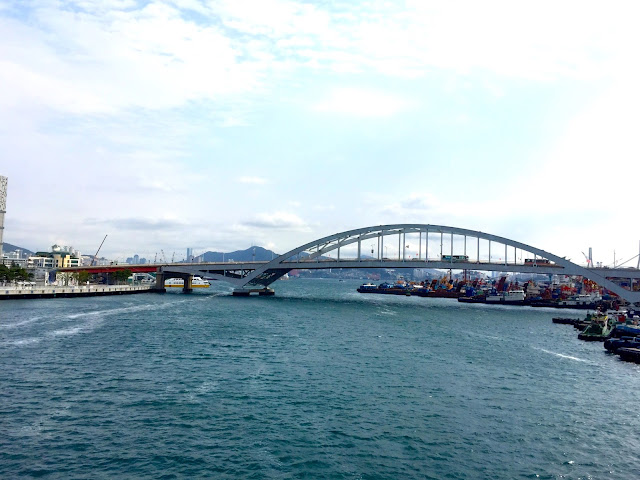 Bridge across the harbour near Jung-gu, Busan, South Korea