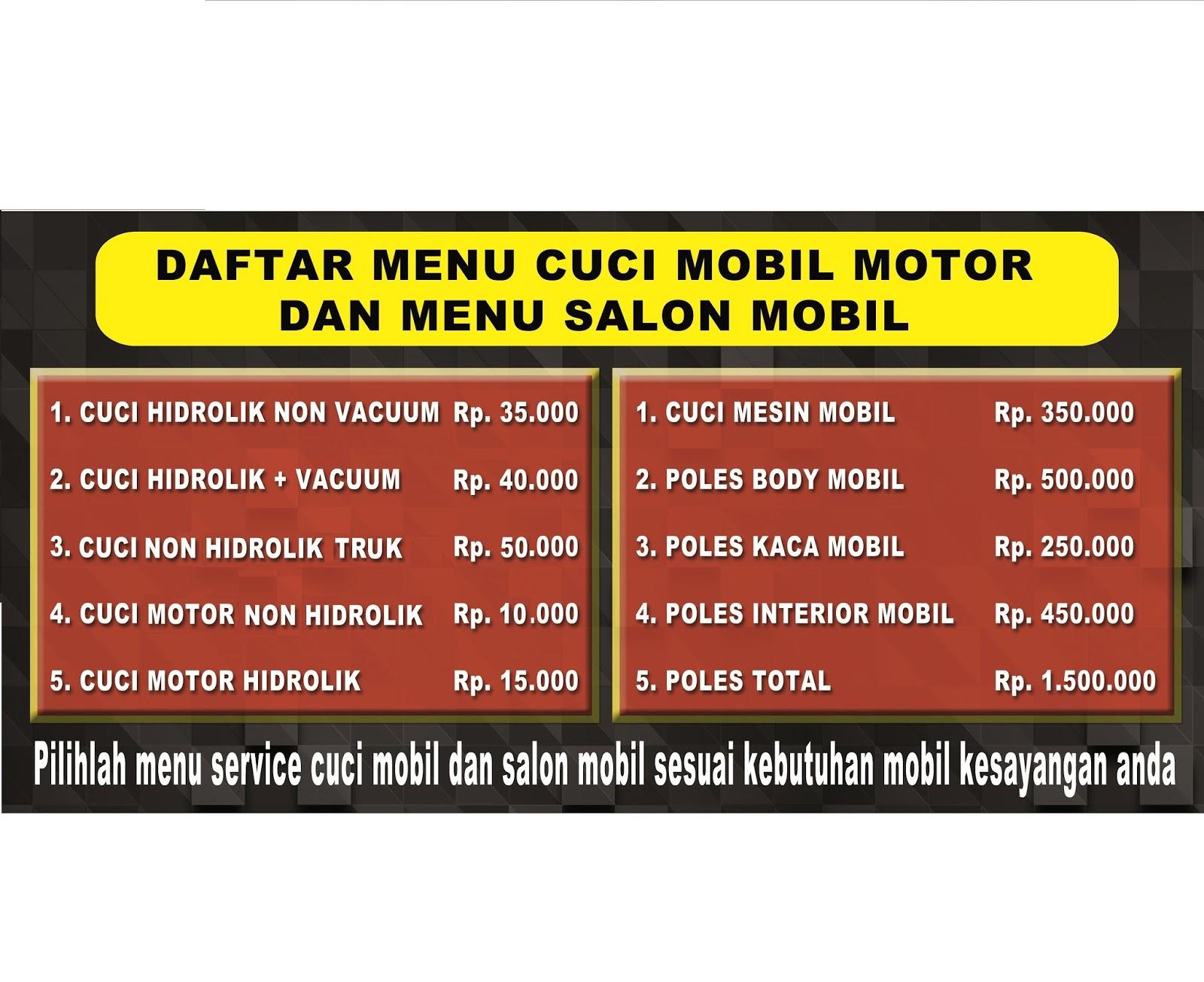 Car Wash Salon Cucian Salon Mobil
