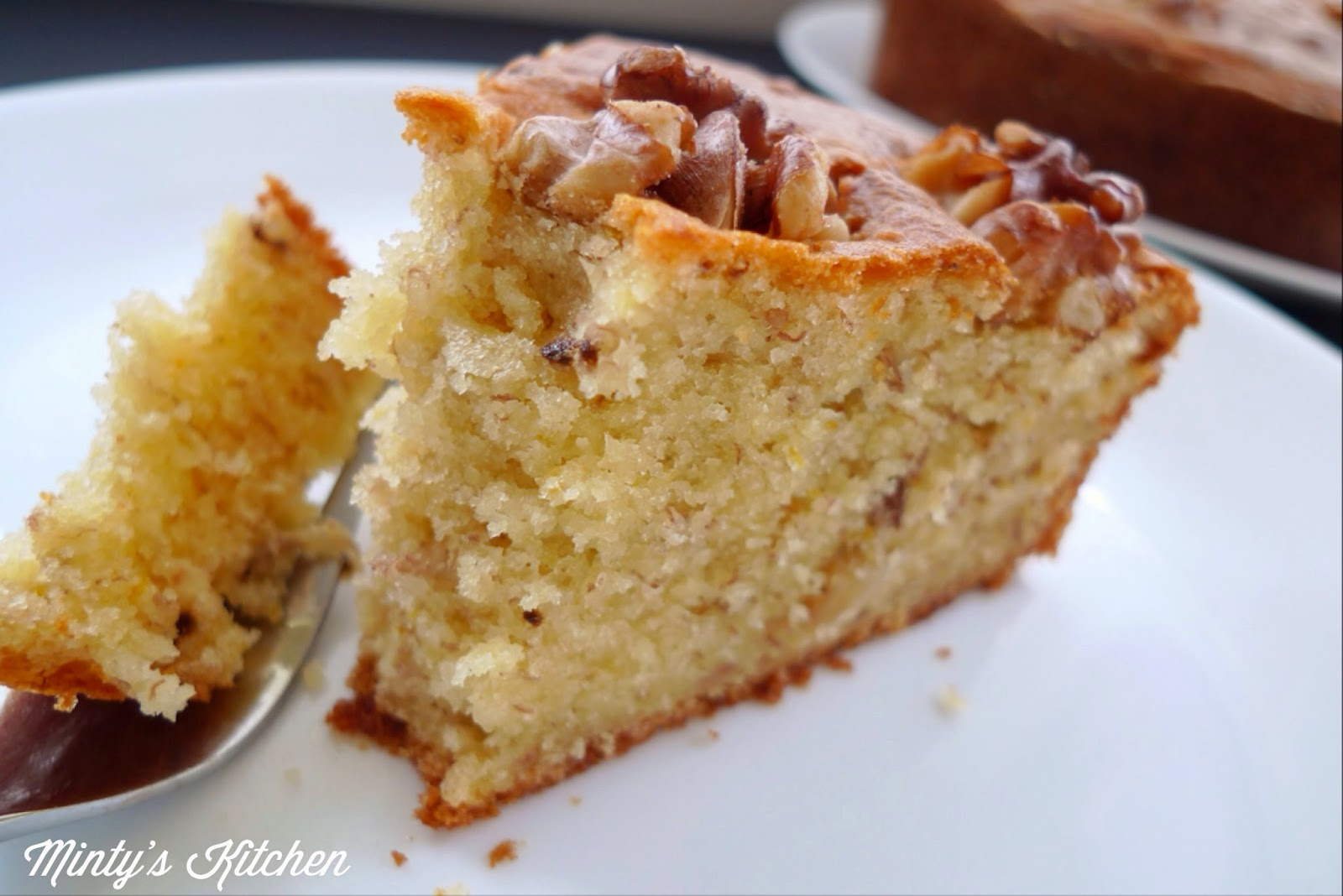 Moist Banana Walnut Cake