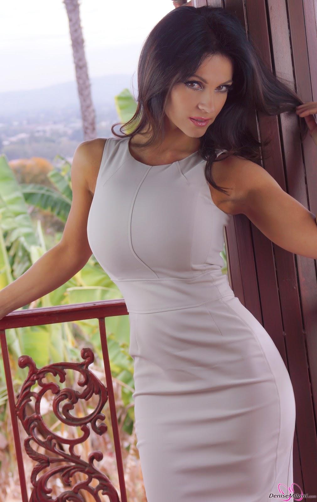 среднем течении дениз милани фото в платьях получила свои