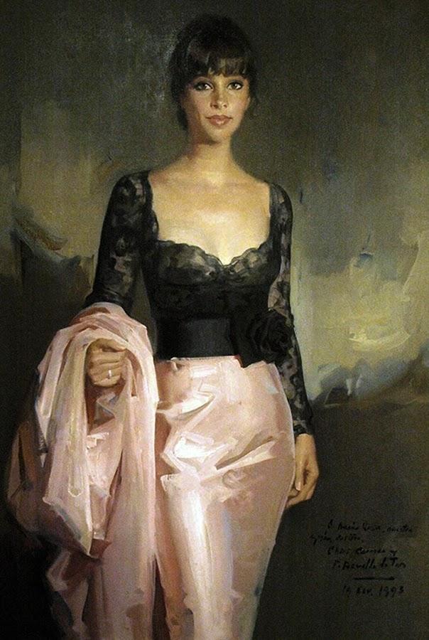 Retrato de María Rosa, Félix Revello de Toro, Revello de Toro, Pintores Malagueños, Retratos de Revello de Toro, Pintor español, Pintores de Málaga