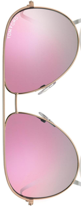Tom Ford Eyewear Erin 61MM Mirrored Aviator Sunglasses