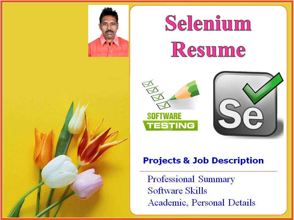 Marvelous Software Testing Resume. Selenium Tester Resume Format  Selenium Resume