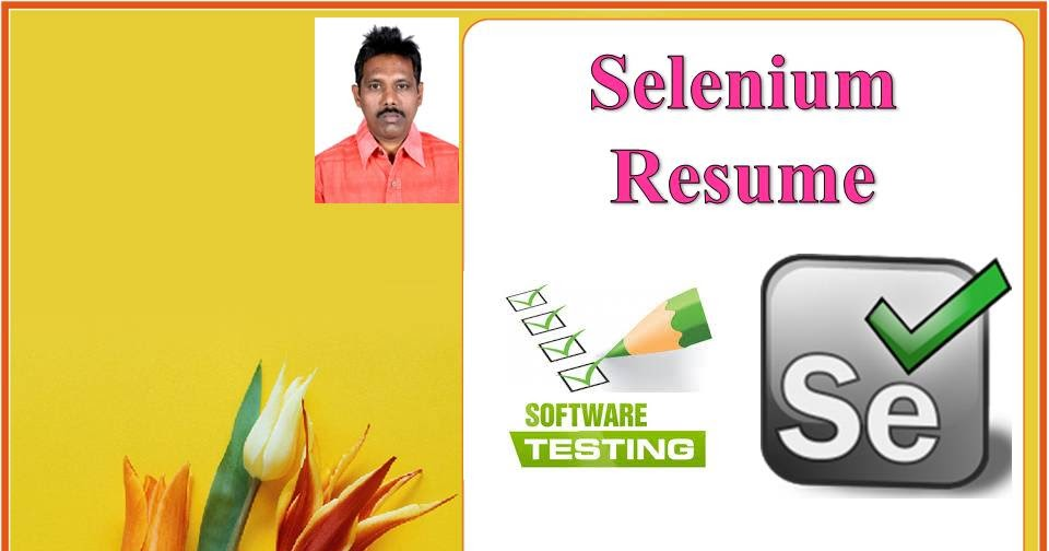selenium tester resume