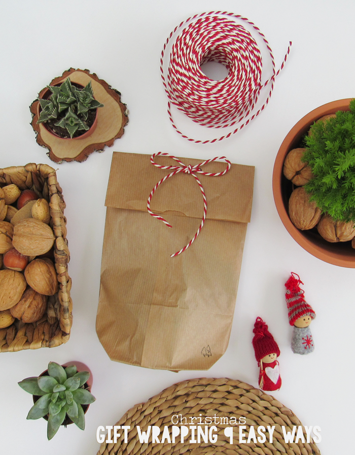 La lil christmas gift wrapping 9 easy ways holidays gifts decorations craft diy do it yourself kraft paper bag solutioingenieria Images