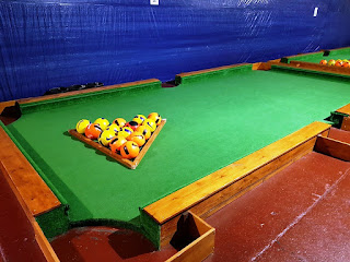 One of the FootPool tables at Holey Molies Leisure Complex