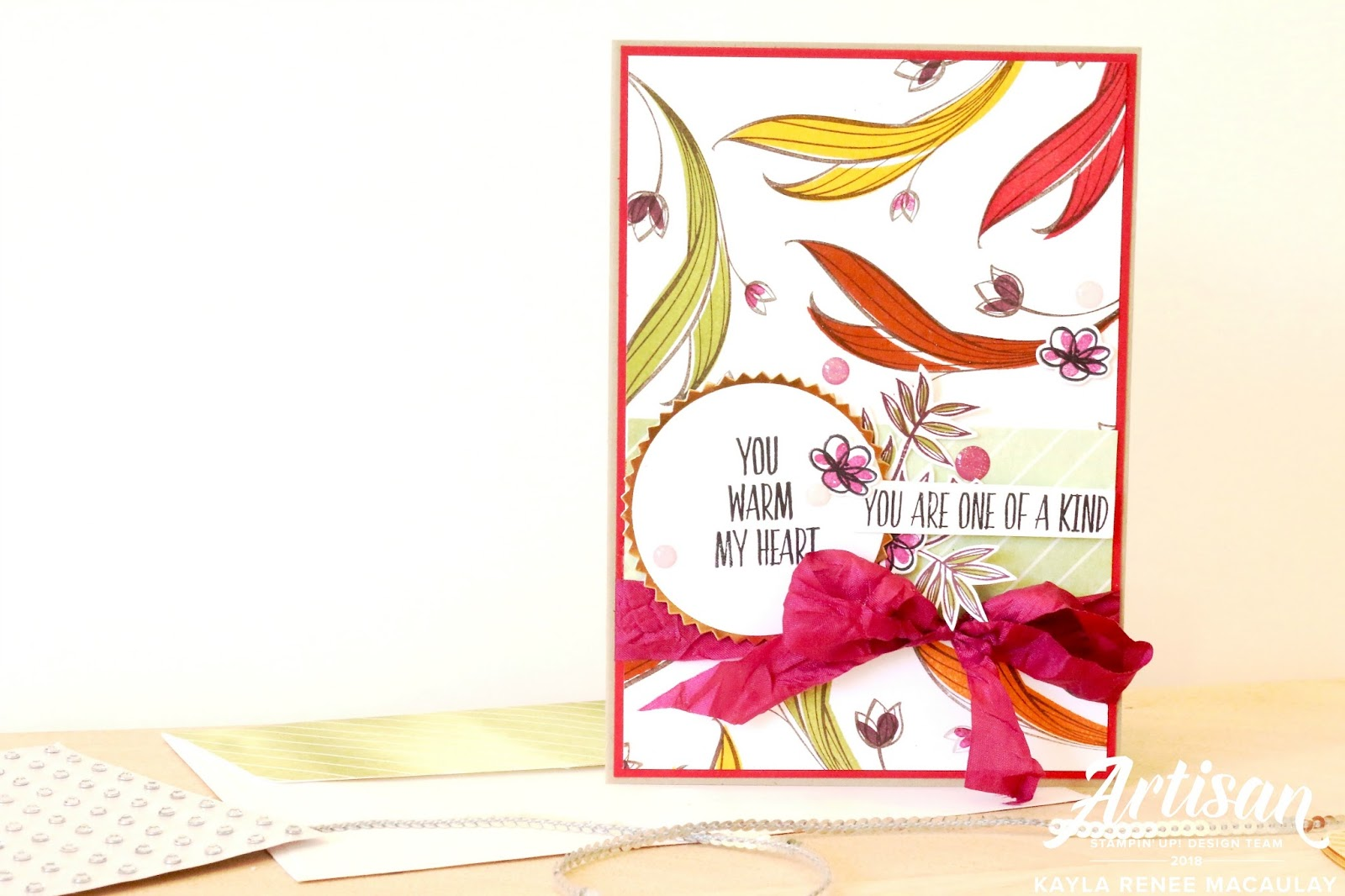 Hereu0027s A Look At My Finished Card. I Have Been Really Loving Using The  Ribbons At The Moment And Really Love This Berry Burst Crinkled Seam  Binding, ...
