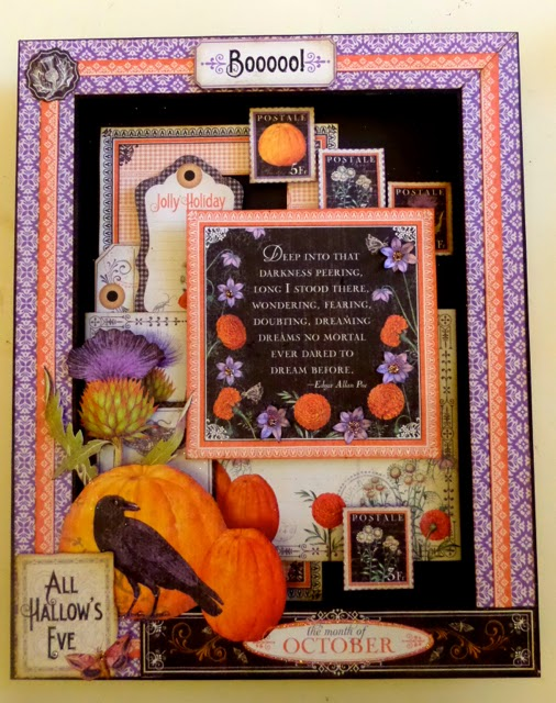 Time to Flourish Altered Frame Clare Charvill Candy Box Crafts Graphic 45