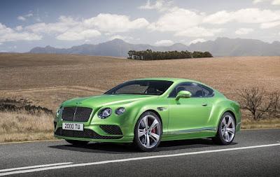 2016 Bentley Continental GT Speed green