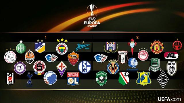 Sorteio dos 16 avos-de-final da Europa League - Potes, Horário e Data