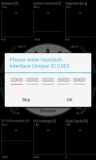 hondash app uid dialog