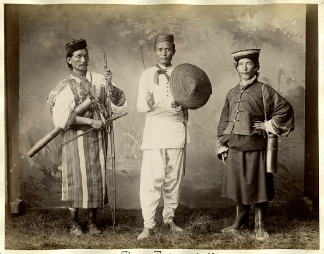 The three Himalayan Hillmen – Lepcha, Nepali and Bhutia, 1880s