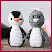 Pinguinos amigurumi