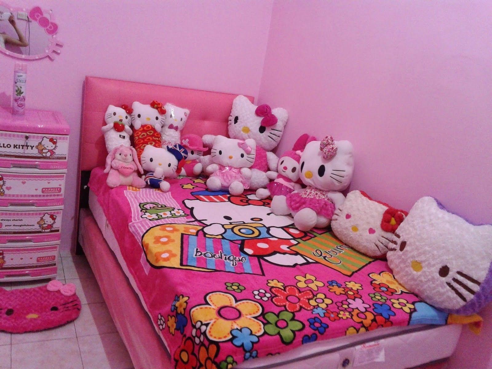 √ 35 Desain Kamar Tidur Hello Kitty Untuk Anak Perempuan